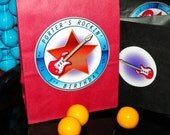 Reserved Listing For pbliz For 45 Small Rock Star Goody Bags and Sticker Seals
