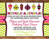 Holiday Christmas Ornament Swap Dirty Santa Girls Party Open House Invitation - DIGITAL FILE