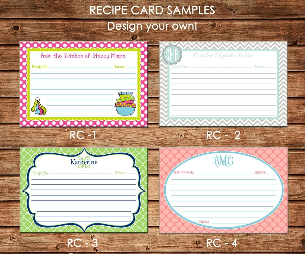 make your own recipe cards