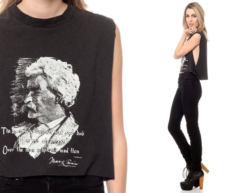 Mark Twain Shirt 1980s Vintage Tshirt Literary Quote 80s Tee