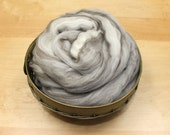 BFL Wool Roving - Mixed/ Humbug - Undyed Fiber for Spinning or Felting (8oz)