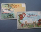 Vintage Postcard Booklet 30's Hollywood  Catalina Island California