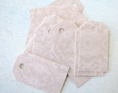 Dusty Rose Lace Shipping Tags, Gift tags, Wedding Favor Tags, Thank You Cards, Escort Tags