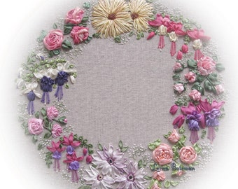 Silk Ribbon Embroidery - Les Jardins - Full kit