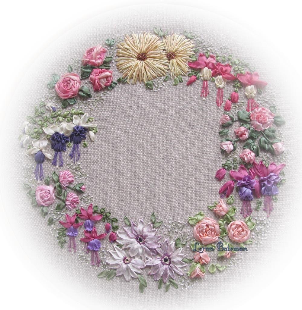 Silk ribbon embroidery les jardins full kit