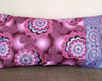 Small Oriental Purple & Turquoise Retro Cushion