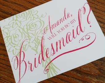 Will You Be My Bridesmaid Cards - Personalized Will You Be My Bridesmaid Cards - Wedding Party Cards - Bridal Party Cards