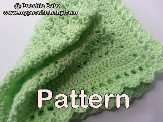 Crochet Patterns One Skein : PATTERN - One Skein Baby Blanket - Crochet Pattern