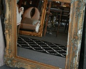 Coveted, stunning 1800's Gold Mirror