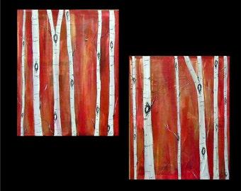 Copper and Crimson Birch by Kristen Dougherty