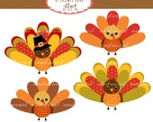 Turkey Clip Art _Thanksgiving Clip Art,Fall Clip Art,thanksgiving turkey,cute autumn,turkeys,fall clip art, instant download