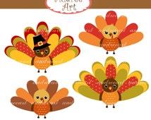 Turkey clip art,Thanksgiving clip art,fall clip art,thanksgiving turkey,cute autumn,turkeys,fall clip art, instant download