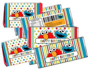Sesame Street KitKat & Hershey Candy Bar Wrappers Printable -DIY Digital