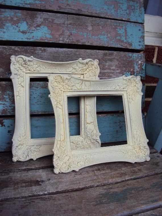 Vintage French Provincial Frame Set Shabby Chic Crackled