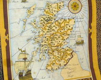 Old English TEA TOWEL Scotland Made in England Great for Framing