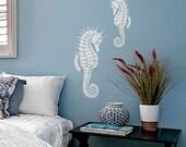 Seahorse Wall Art Stencil - Large - Stencils even better than wall decals - DIY decor