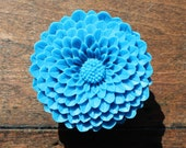 Flower Drawer knobs - Cabinet Knobs Mum in Ocean Blue LARGE, more COLORS (RFK12)