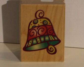 Festive Bell Rubber Stamp