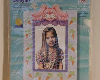 Peek-A-Boo Bunny Counted Cross Stitch Frame Kit