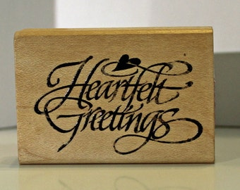 Heartfelt Greetings Rubber Stamp