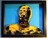 3D C3PO Star Wars Dimensional Portrait with frame