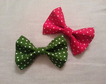 Holiday Dots Dog or Cat Bowtie