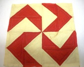 1850s FLYFOOT Quilt Block for PILLOW or WALLHANGING