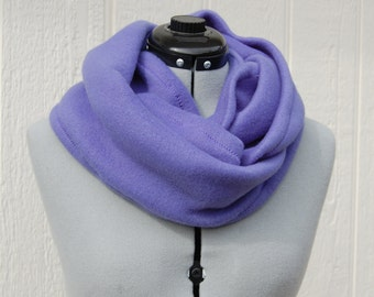Periwinkle Lavender Light Purple Infinity Fleece Scarf