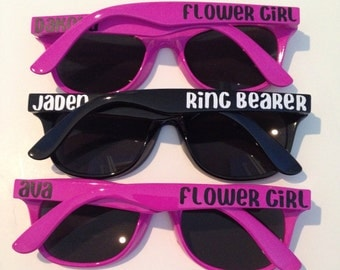 Ring Bearer Gift, Flower Girl Gift, Ring Security, Child Size Sunglasses