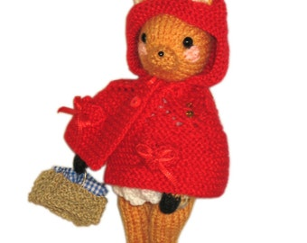 Little Red Riding Hood Fawn PDF Email Knit PATTERN