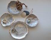 Handmade Clay Ring Dish Jewelry Bowl Bling Jewelry Bowl White Clay Ring Bowl Jewelry Holder