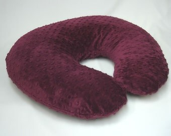 Maroon Boppy Pillow Cover Nursing Pillow Raisin Red