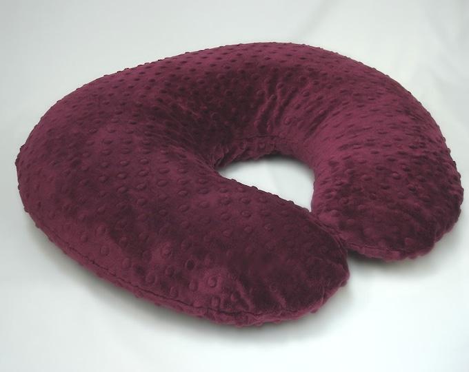 Maroon Boppy Pillow Cover Nursing Pillow Raisin Red