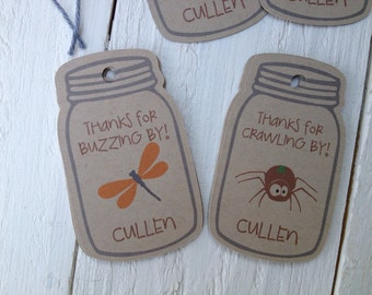 Bug In A Jar Birthday Favor Tags