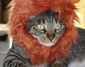 Cat Lion Mane, cat costume,cat wig,fur cat hat, fluffy cat wig