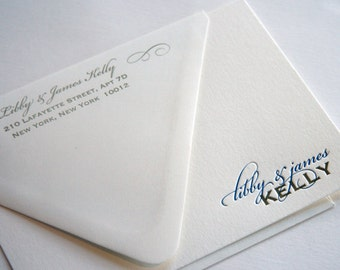 ADD ON Return Address Printing for Personalized Stationery