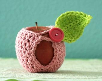 Small Crochet Apple Cozy