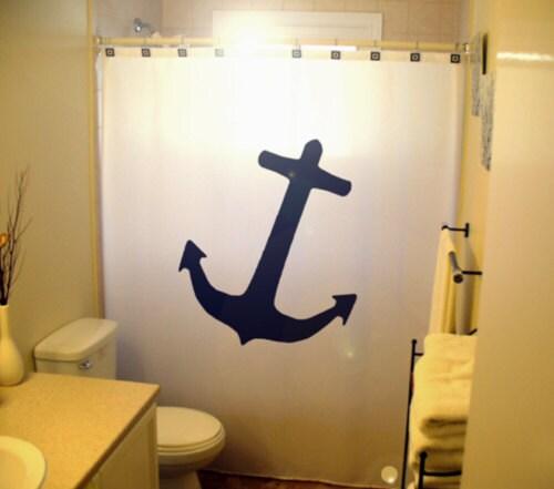 Nautical Anchor Bathroom Decor: Anchor Shower Curtain Nautical Bathroom Decor