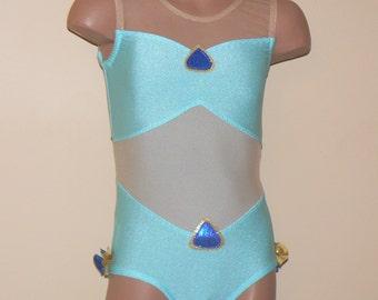 Arabian Princess Jasmine Inspired Toddlers Girls Leotard. Gymnastics Dance Leotard. Performance Leotard. Dancewear. Size 2t - Girls 10
