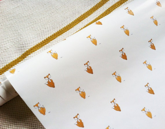 "Fox // Gift Wrap // Each roll is 26"" X 36"""