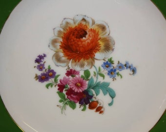 Bavaria Tirschenreuth China Collectors Plate with Floral Design
