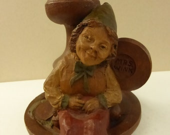 Vintage Cairn Studio Tom Clark Gnome Candlestick Mrs. Wink