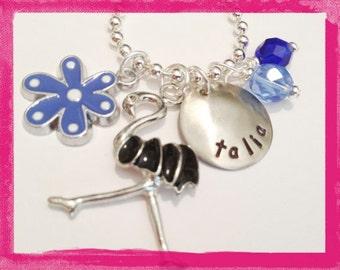 FLAMINGO NECKLACE  - Personalized Charm Necklace for children #Q42
