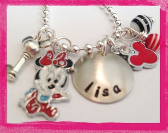 MOUSE CHARM NECKLACE - Personalized Customized Jewelry #M66