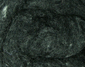 4 oz Short Fiber Merino Wool Charcoal