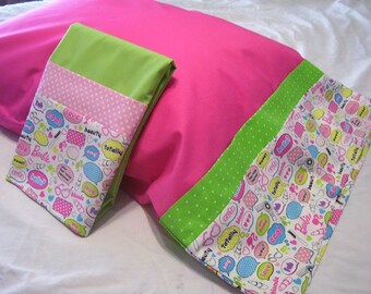 pillow  cases set of two Standard size Barbie theme