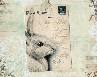 Tags, French Rabbit Tags, Le Lapin, French Rabbit