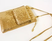 Vintage gold Mesh Crossbody Purse by Bags by Marlo