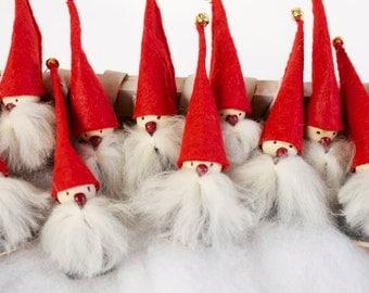 Handmade Swedish Elf / Gnome / Tomte Figurine - Scandinavian Christmas