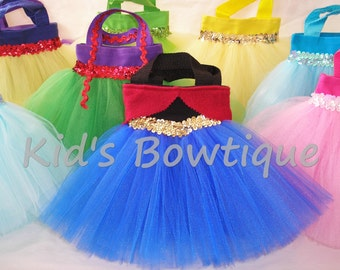 20 Party Favor Tutu Bags-  for your Disney Princess Theme Party - Birthday party bags for a Frozen Anna and Elsa party